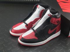 Air Jordan 1 AJ1 芝加哥黑红 阴阳鸳鸯拼接 861428-061