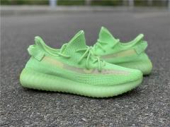 """adidas Yeezy Boost 350 V2 """"Glow In The Dark"""" 荧光绿配色"""