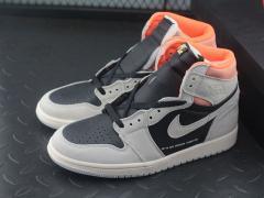 "Air Jordan 1 灰脚趾 灰麂皮 SP浅灰黑橘""555088-018"